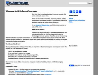 dll-error-fixes.com screenshot