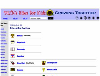 dltk-cards.com screenshot