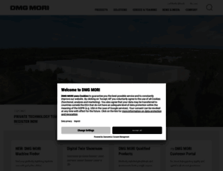 dmgmori.com screenshot