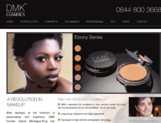 dmkcosmetics.co.uk screenshot