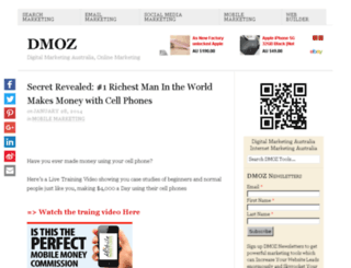 dmoz.com.au screenshot