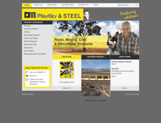 dmplastics.com.au screenshot