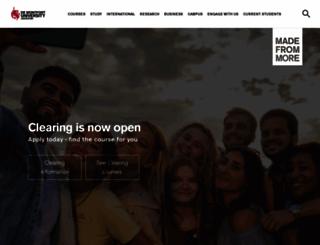 dmu.ac.uk screenshot