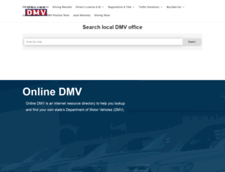 dmv-department-of-motor-vehicles.com screenshot