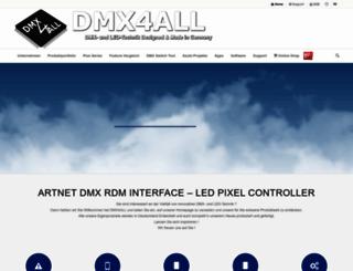 dmx4all.de screenshot