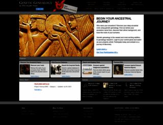 dnaancestryproject.com screenshot