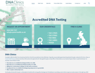 dnaclinics.co.uk screenshot