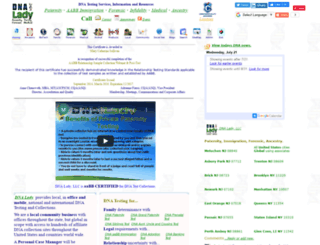 dnalady.com screenshot