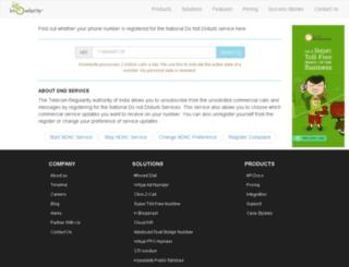 dnd.knowlarity.com screenshot