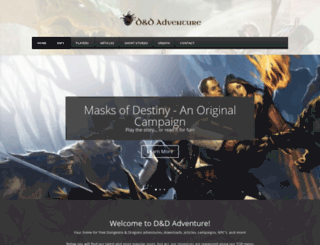 dndadventure.com screenshot