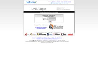dns.netsonic.net screenshot