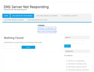 dnsnotresponding.com screenshot