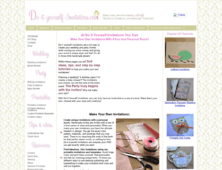 do-it-yourself-invitations.com screenshot