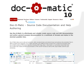 doc-o-matic.com screenshot