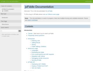 doc.jsfiddle.net screenshot