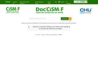 doccismef.chu-rouen.fr screenshot