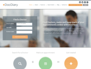 docdiary.co.za screenshot