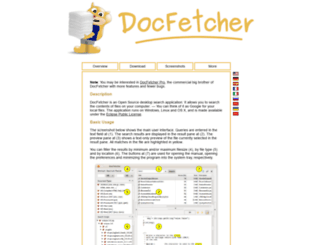 docfetcher.sourceforge.net screenshot