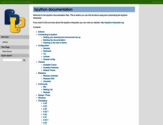 docs.bpython-interpreter.org screenshot