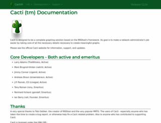 docs.cacti.net screenshot
