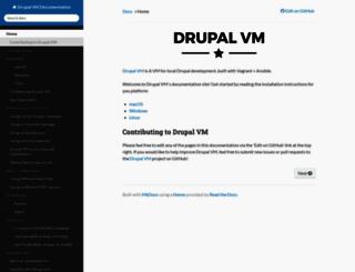 docs.drupalvm.com screenshot