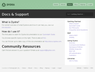 docs.dydra.com screenshot