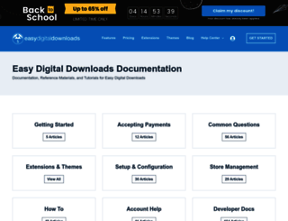 docs.easydigitaldownloads.com screenshot