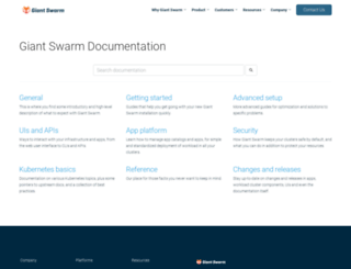 docs.giantswarm.io screenshot