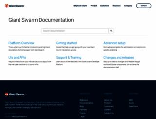 docs.giantswarm.io screenshot
