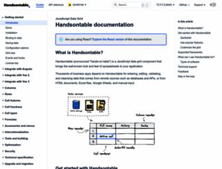 docs.handsontable.com screenshot