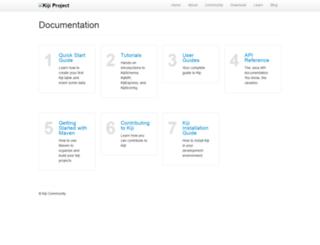 docs.kiji.org screenshot