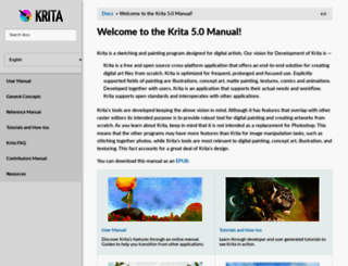 docs.krita.org screenshot