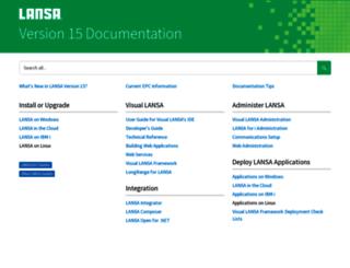 docs.lansa.com screenshot