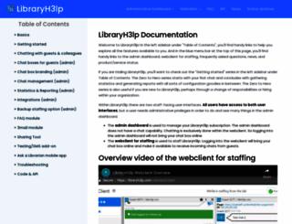 docs.libraryh3lp.com screenshot
