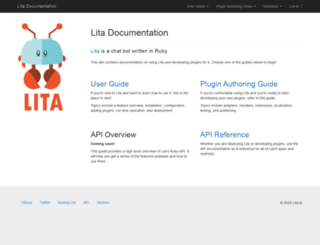 docs.lita.io screenshot