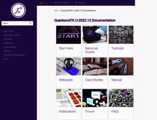docs.quantumwise.com screenshot