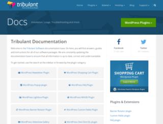 docs.tribulant.com screenshot