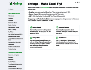 docs.xlwings.org screenshot