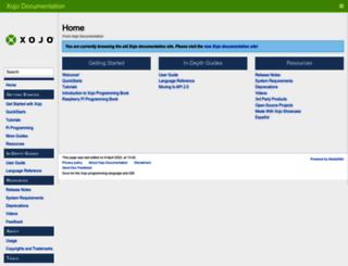 docs.xojo.com screenshot