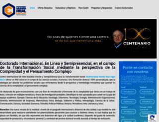 doctoradopensamientocomplejo.org screenshot