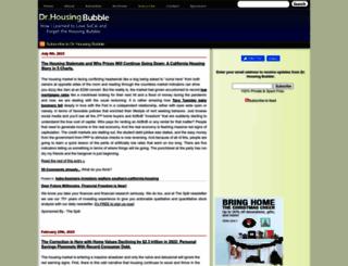doctorhousingbubble.com screenshot