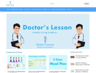 doctorslesson.com screenshot