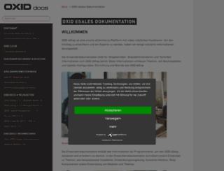 docu.oxid-esales.com screenshot