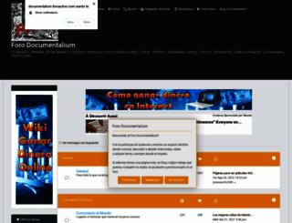documentalium.foroactivo.com screenshot