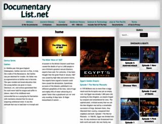 documentarylist.net screenshot