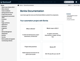 documentation.bonitasoft.com screenshot