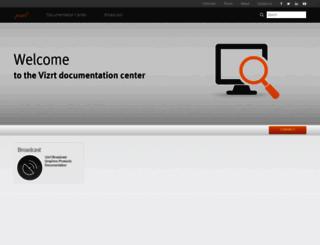 documentation.vizrt.com screenshot