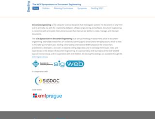 documentengineering.org screenshot
