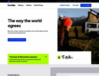 docusign.com screenshot