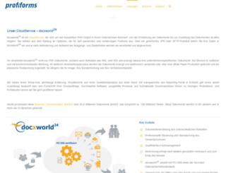 docxworld.de screenshot